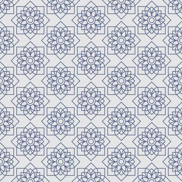 Thai lotus star vintage pattern