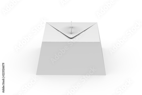 white blank gift packaging box with handle mock up for cake and pie