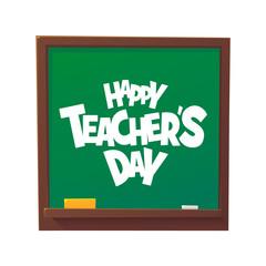 Happy Teachers Day cartoon blackboard vector illustration