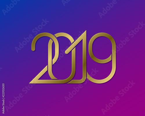 Plexus of golden numbers 2019 on gradient background happy new year plexus of golden numbers 2019 on gradient background happy new year greeting card design m4hsunfo