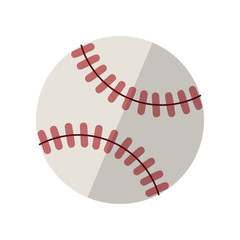 Baseball isolated on white with clipping path. Vector illustration isolated on white background