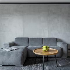 Fototapeta Gray sofa and round table obraz