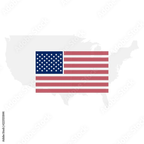 United States Of America Flag Us Map Background Stock Photo And - American-flag-us-map