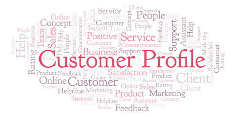 Customer Profile word cloud.