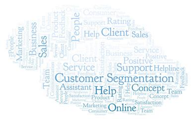 Customer Segmentation word cloud.
