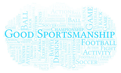 Good Sportsmanship word cloud.