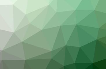 Illustration of green polygonal elegant multicolor background.