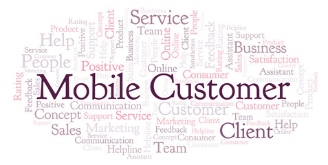Mobile Customer word cloud.