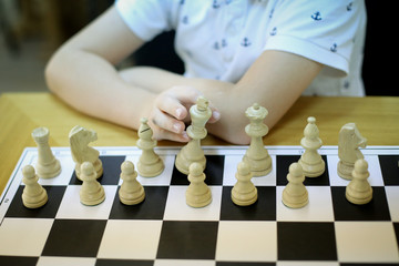Hands of a 12 years old Chess Master