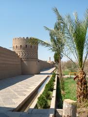 Dolat Abad persian garden, UNESCO site in Yazd, Iran