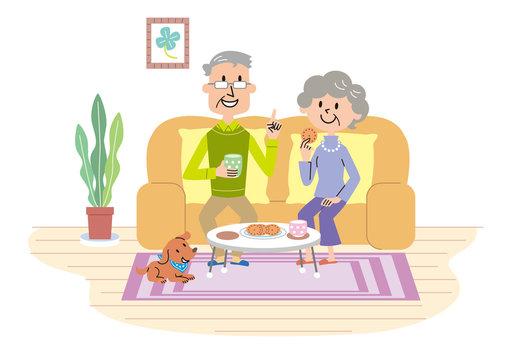 高齢者 夫婦 ティータイム