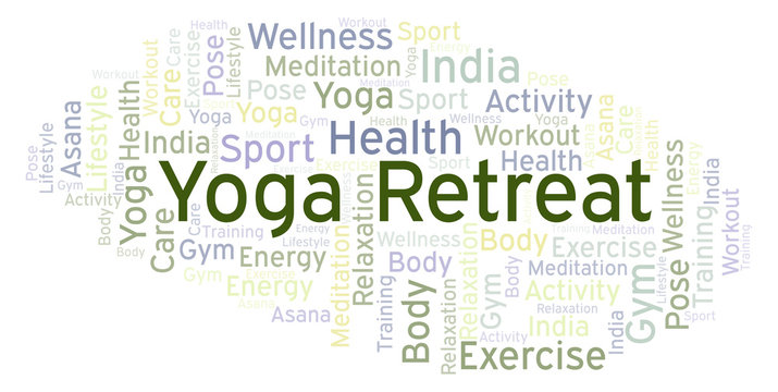 Yoga Retreat word cloud.