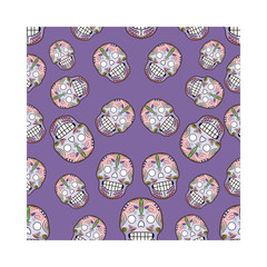 Seamless pattern with celebratory skulls