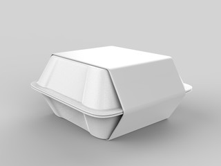 Foto auf Gartenposter Sortiment Blank disposable food packaging. 3d render illustration.