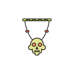 skull decoration colored icon. Element of wild west icon for mobile concept and web apps. Cartoon skull decoration icon can be used for web and mobile