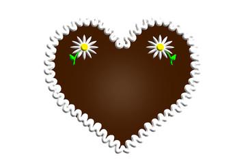 Oktoberfest Lebkuchenherz Lebkuchen Herz Textfreiraum