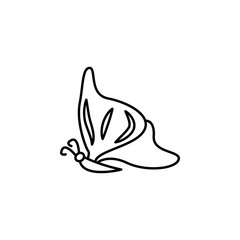 butterfly icon. Element of butterfly icon for mobile concept and web apps. Thin line butterfly icon can be used for web and mobile