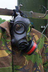 military gasmask closeup