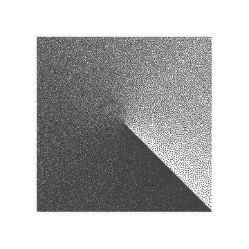Minimal Vector Stippled Square Shape. Dotwork Art Illustration. Stippling Background
