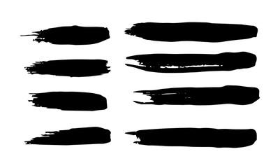 Set of grunge brush strokes. set of vector brush strokes for decor and logo design