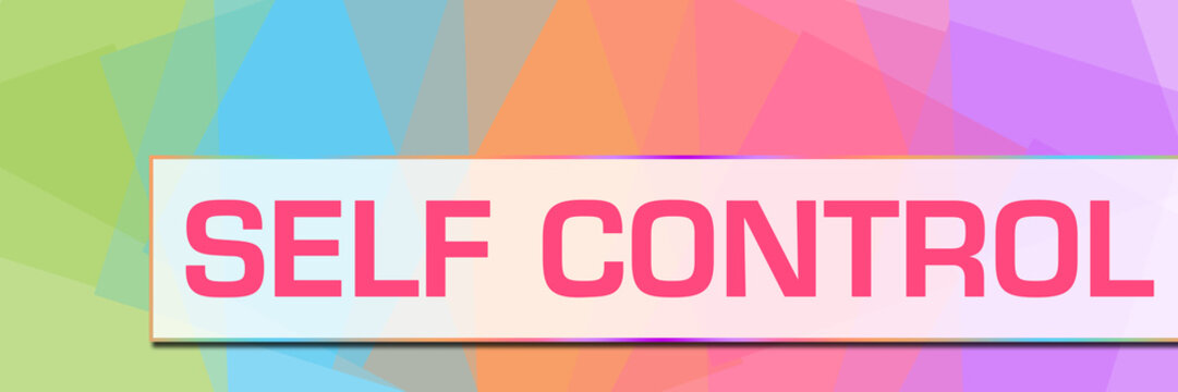 Self Control Colorful Abstract Background Horizontal