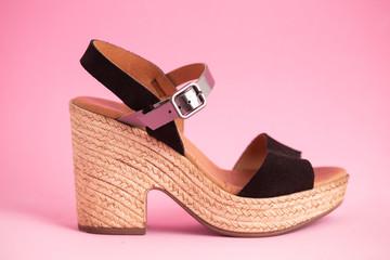 woman's wedge shoe