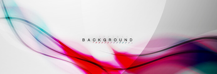 Smooth blur wave background