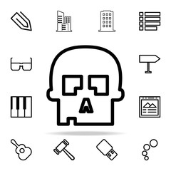 skull icon. web icons universal set for web and mobile