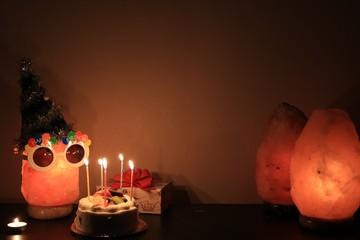 誕生パーティーをイメージした減塩ランプ