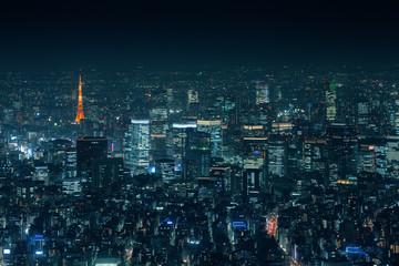 Tokyo city at night
