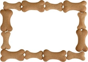 Dog biscuits frame  for background use