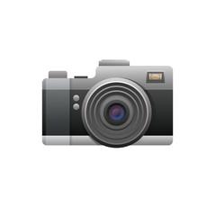Web camera black on white background. Illustration