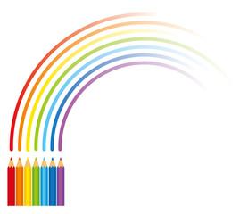 色鉛筆と虹