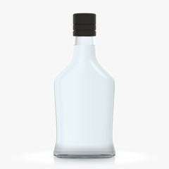 Bottle with alcohol on a white background 3d illustration