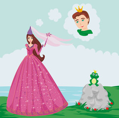 prince enchanted with a frog