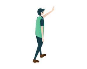 men man isometric touching men illustration vector, isometric men,people isometric,standing men vector illustration