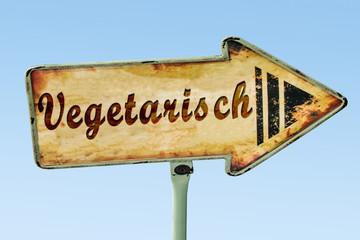 Schild 328 - Vegetarisch