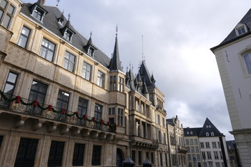The Chamber of Deputies, Parliament of Luxembourg in winter