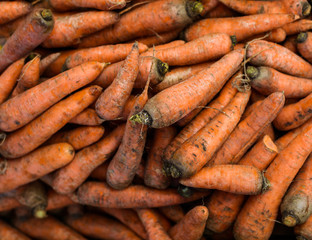 Natural-looking vegetables in a supermarket - carrot.