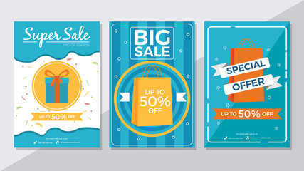 Super Sale, Big Sale and Special Offer Flyer Template