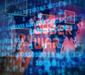 Cyberwar Virtual Warfare Hacking Invasion 3d Illustration