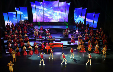 The North Korea's Samjiyon Orchestra performs Pyongyang Grand Theatre in Pyongyang
