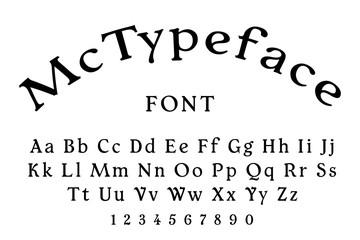 McTypeface regular font