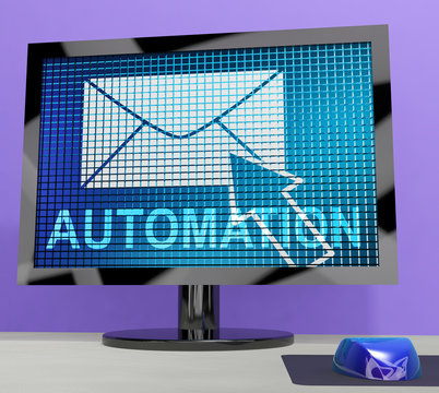 Email Automation Digital Marketing System 3d Rendering