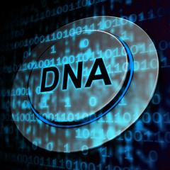 Binary Dna Chromosome Digital Bits 3d Rendering