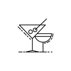 cocktail drinks dusk style icon. Element of birthday party in dusk style icon for mobile concept and web apps. Thin line cocktail drinks icon can be used for web and mobile