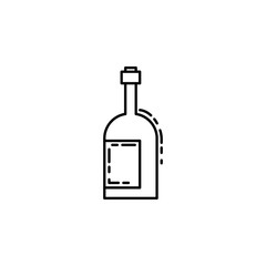 bottle of alcohol dusk style icon. Element of birthday party in dusk style icon for mobile concept and web apps. Thin line bottle of alcohol icon can be used for web and mobile