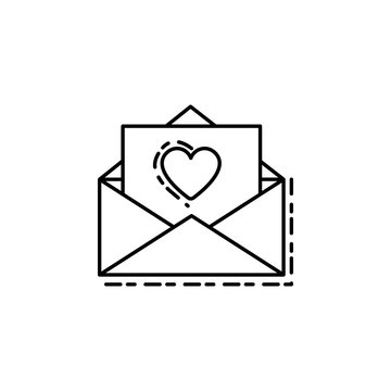 congratulatory letter dusk style icon. Element of birthday party in dusk style icon for mobile concept and web apps. Thin line congratulatory letter icon can be used for web