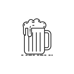 mug of beer dusk style icon. Element of birthday party in dusk style icon for mobile concept and web apps. Thin line mug of beer icon can be used for web and mobile