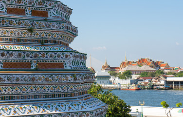 View from Wat Arun of the Royal Palace, Bangkok